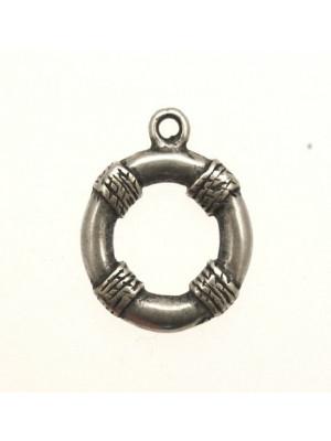 Ciondolo a forma di salvagente piatto con 4 punti di corde 21 mm.