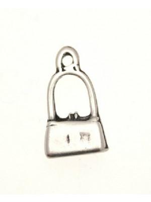 Ciondolo a forma di borsettina piccola liscia 10x18 mm.