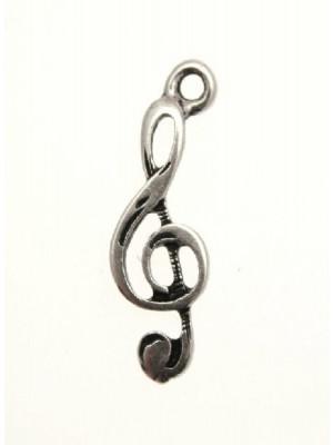 Ciondolo a forma di chiave di violino 9x23 mm.