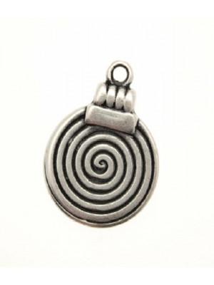 Ciondolo a forma di spirale piena con gancio in alto 17 mm.