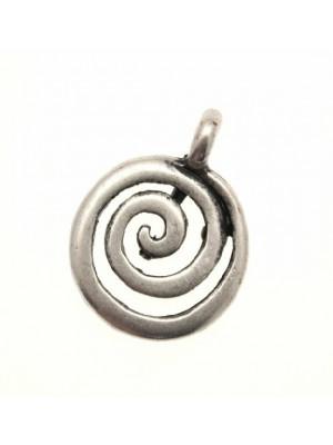 Ciondolo a forma di spirale vuota media 17 mm.
