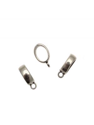 Distanziatore a boccale a forma di fascia ovale, con anello sotto,  6x19 mm.