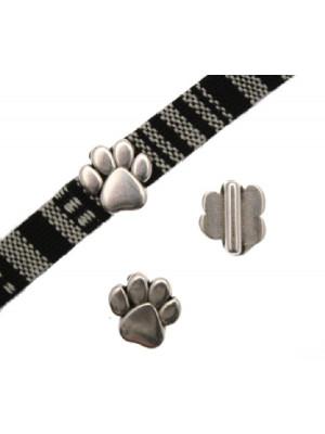 Passante a forma di zampa di animale, 10x14x6 mm.