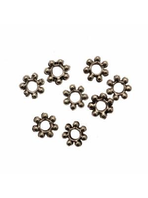 Distanziatore a rondella piatta a fiore mignon, 4x0,9 mm.