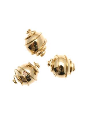 Distanziatore a palla liscia con spirale attorno, 10 mm.