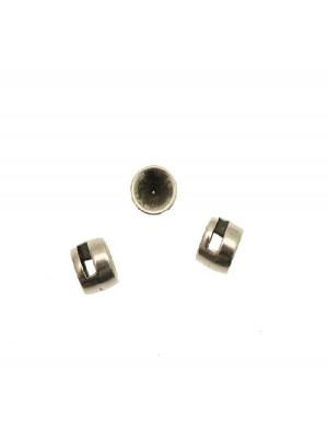 Distanziatore a forma di cilindro con porta strass in alto (gemma tonda conica SS39) 10x7 mm.