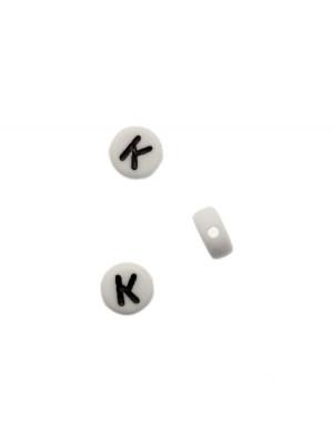 """Distanziatore in resina con disegno lettera """"K"""", 7x4 mm."""