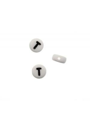 """Distanziatore in resina con disegno lettera """"T"""", 7x4 mm."""
