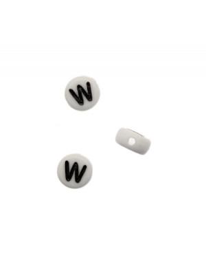 """Distanziatore in resina con disegno lettera """"W"""", 7x4 mm."""