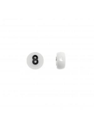"""Distanziatore in resina con disegno numero """"8"""", 7 mm."""