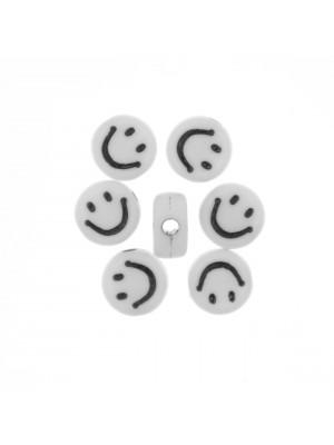 Distanziatore in resina con disegno di Smile, 7x4 mm.