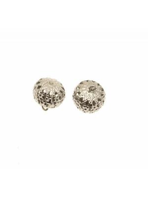 Ciondolo a forma di palla schiacciata filigranata con 1 anello 12 mm.