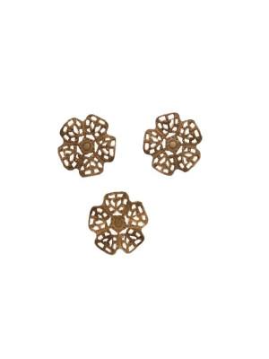 Filigrana a forma di fiore piccolo a cinque petali, leggermente bombati, 14 mm.