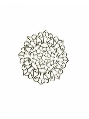 Filigrana tonda piatta sottile, smerlettata, 33 mm.