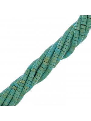 Rondelle a filo in pietra dura, 4,5x2,5 mm., colore Aulite Turchese