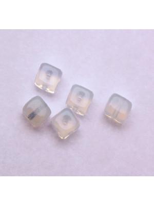 Cubo, 5x7 mm., Bianco Opale