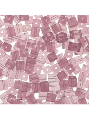 Cubo in cristallo, 4 mm., Ametista chiarissimo trasparente