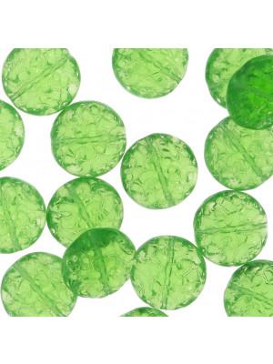Cipolla a fiore scoppiata, 14 mm., Verde peridot trasparente