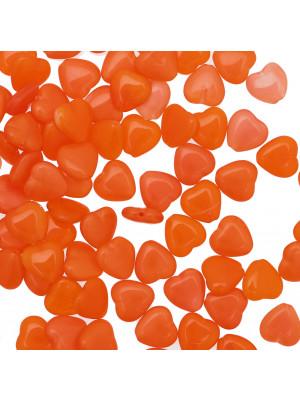 Cuore, 10 mm., Arancione sfumato