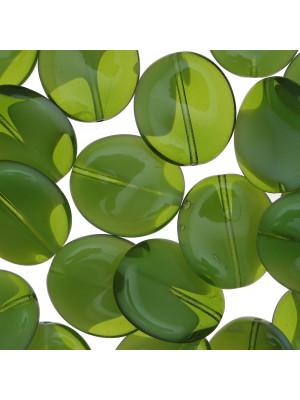Elica, 20x18 mm., Verde oliva sfumato