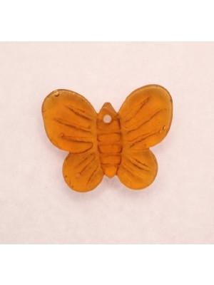 Farfalla piatta foro in alto, 13x20 mm., Topazio