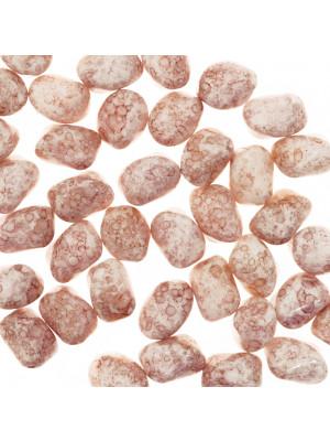 Nigla, 10x13 mm., colore Panna rosato marmorizzato