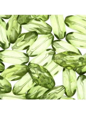 Oliva molata, 23x10 mm., Verde oliva trasparente