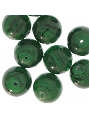 Palla, Verde smeraldo opaco rigato in nero