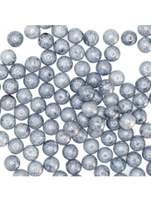 Palla, 6 mm., Blu marmorizzato
