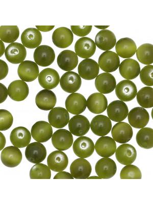Palla, 8 mm., Verde militare sfumato ad occhio di gatto