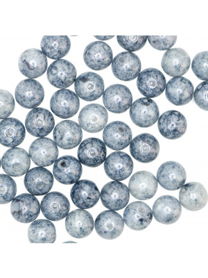 Palla, 8 mm., Blu marmorizzato