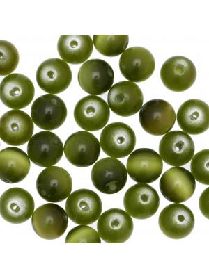 Palla, 10 mm., Verde militare sfumato ad occhio di gatto