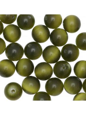 Palla, 12 mm., Verde militare sfumato ad occhio di gatto