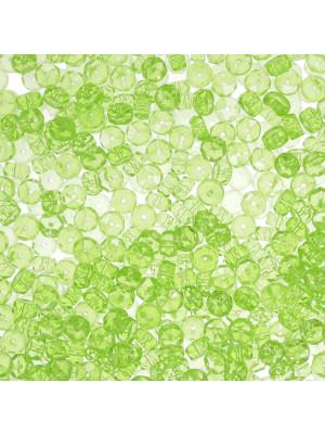 Rondella in mezzo cristallo, 3x5 mm., Verde peridot trasparente