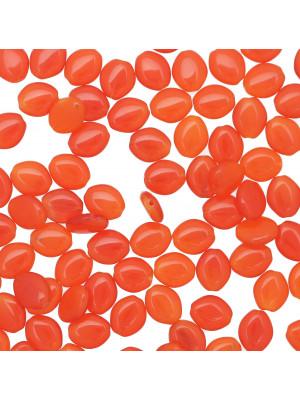 Semino, 10x8 mm., Arancione opaco scuro