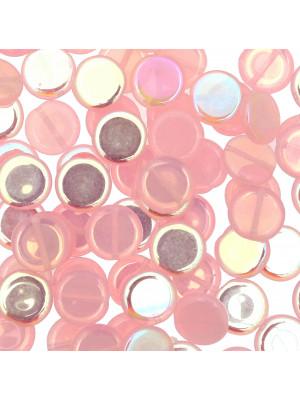 Tondo piatto, 12 mm., Rosa baby opale AB