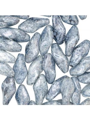Torciglione, 19x10 mm., Blu marmorizzato