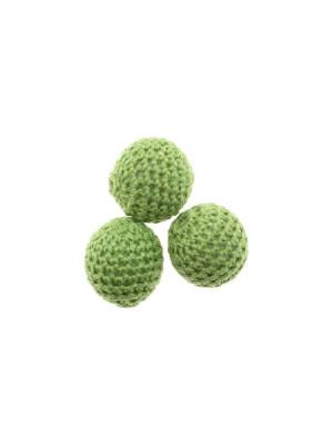 Palla in cotone all'uncinetto, Verde Peridot