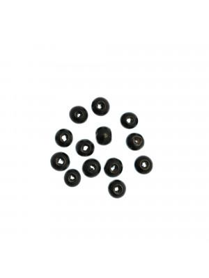 Palla in legno, liscia, 8 mm., colore NERO