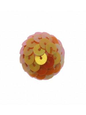 Palla in paiettes, colore Arancione