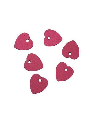 Paiettes a forma di cuore sottilissime con foro in alto, 10 mm., Ametista metallizzato