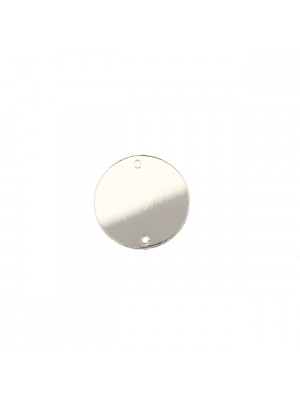 Elemento piatto in resina, a foma di cerchio, a specchio