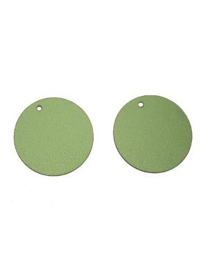 Paiettes tonde sottilissime con foro in alto, Verde metallizzato