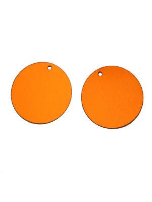Paiettes tonde sottilissime con foro in alto, Arancione scuro metallizzato