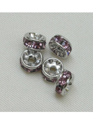 Rondella strass, 5 mm., base Rodio