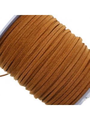 Alcantara, spessore 1,4x3 mm, colore Marrone Chiaro