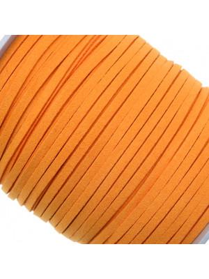 Alcantara, spessore 1,4x3 mm, colore Arancione Chiaro