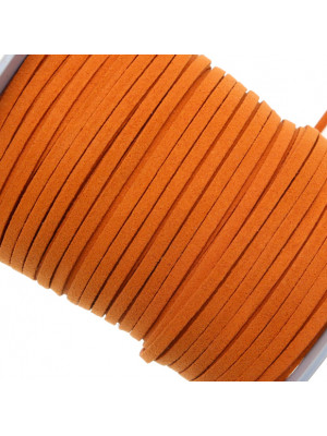 Alcantara, spessore 1,4x3 mm, colore Arancione