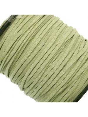 Alcantara, spessore 1,4x3 mm, colore Verde Oliva Chiaro