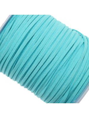 Alcantara, spessore 1,4x3 mm, colore Turchese